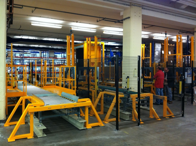 automated pallet changing system, Master Inverter logy