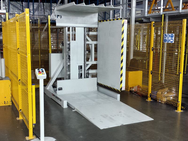 Stationary Pallet Changer, Toppy Inverter