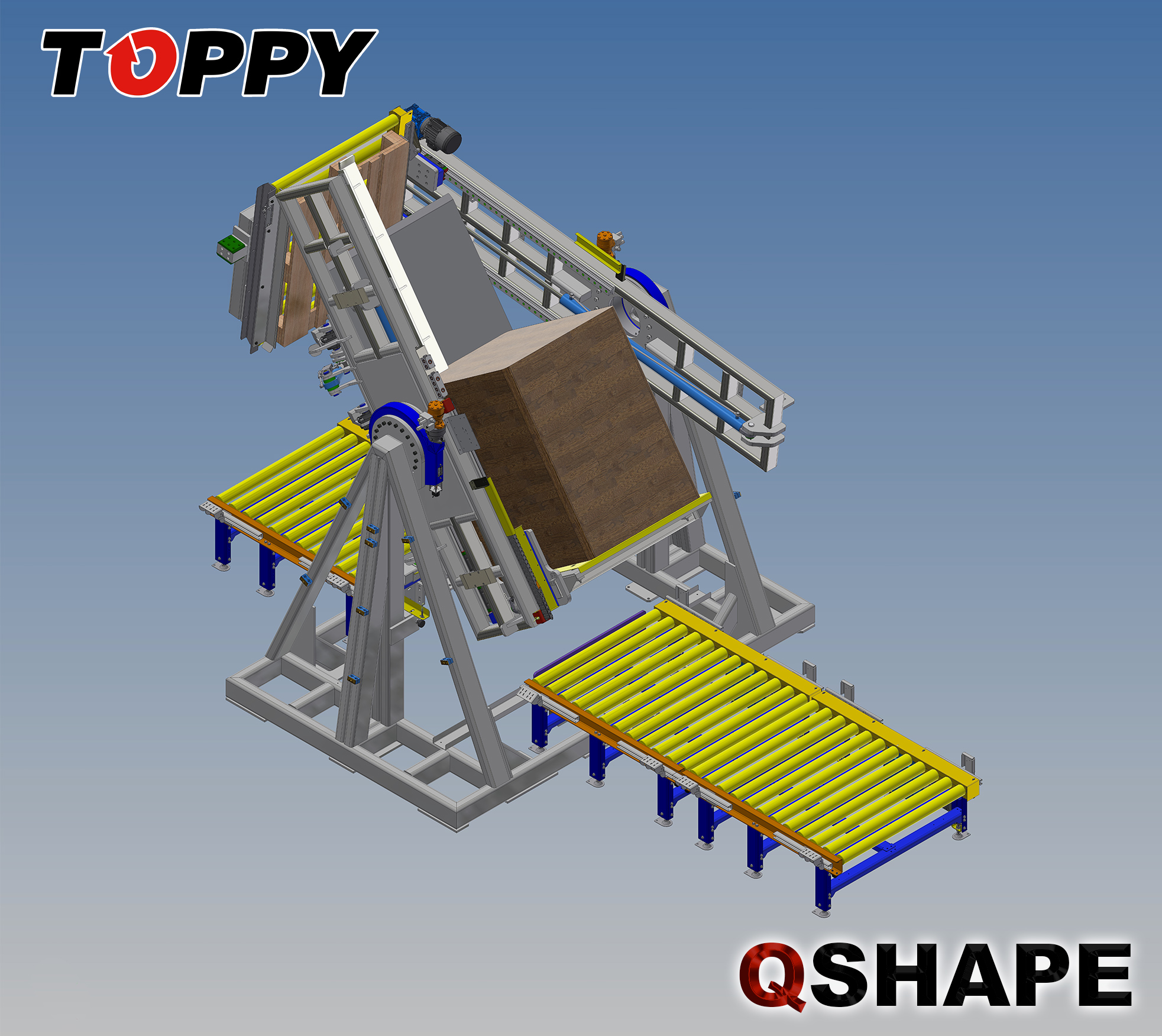 pallet changer Q-Shape with background