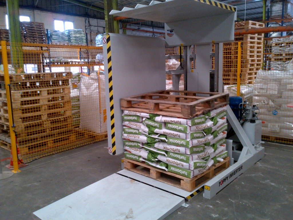 Pallet Inverter, pallet changer, pallet exchanger