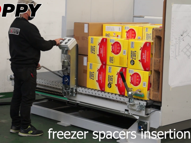 freezer spacers insertion
