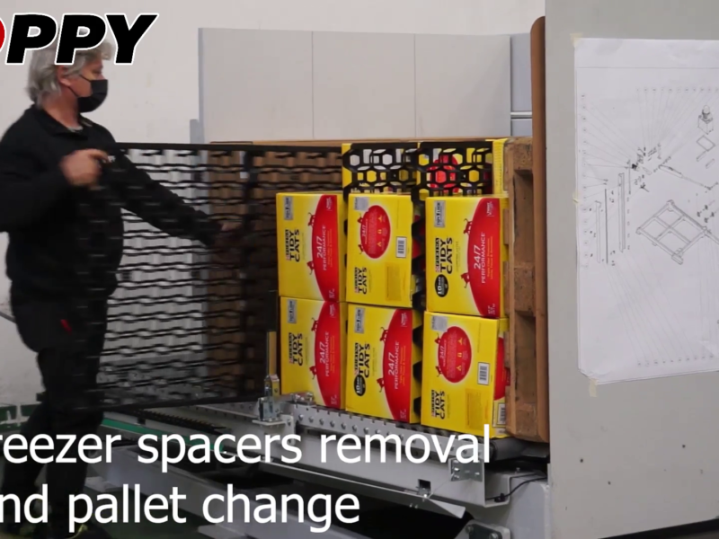 freezer spacers removal and pallet change